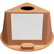 Inventory Control Cone, 3 Sided with Magnets & Dry Erase Decals - Tan