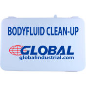 Global Industrial Body Fluid Clean-Up Kit, Plastic Case, 9 Pieces