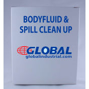 Global Industrial Body Fluid & Spill Clean-Up Kit, Chipboard Box, 11 Pieces