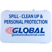 Global Industrial Spill Clean-Up & Personal Protection Kit Refill, 14 Pieces