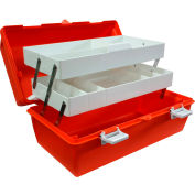 """Custom Kits Company Deluxe League First Aid Case Only, 17-1/2"""" x 10"""" x 8-3/4"""", Orange"""