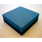 "Clark Foam Products, 1001018, Foam Sheet, 220 Poly, Blue/Charcoal, 1-1/2""H x 12""W x 12""L - Pkg Qty 2"