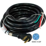 Conntek, 14301, 25-Ft 50-Amp RV Camp Power Cord with NEMA 14-50P Male Plug To Bare Wire