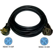 Conntek 14304, 15', 50A, RV Camp Power Straight Blade Extension Cord, NEMA 14-50P to NEMA 14-50R