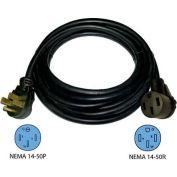 Conntek, 14307, 50-Ft 50-Amp RV Camp Power Straight Blade Extension Cord, NEMA 14-50P to NEMA 14-50R