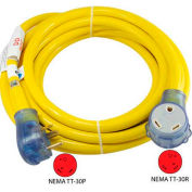 Conntek 14368, 25-Feet 30-Amp Straight Blade RV Extension Cord with NEMA TT-30P/R