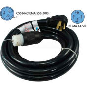 Conntek 1450SS2-50, 50', 50A, Generator Temporary Power Cord with NEMA 14-50 to CS6364