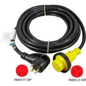 Conntek 15350, 25-Feet 30-Amp Ergo Grip RV Extension Cord with NEMA TT-30P to NEMA L5-30R