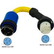 Conntek 16305-EC0RE, 1.5', 50A, 125/250V RV Marine Perfect Angle Locking Adapter Cord