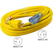 Conntek 20251-025, 25', 12/3 SJTW Outdoor Extension Cord with lighted NEMA 5-15P/R