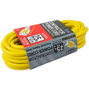 Conntek 20251-100, 100', 12/3 SJTW Outdoor Extension Cord with NEMA 5-15P/R, Lighted Receptacle