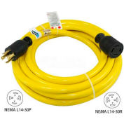 Conntek 20601-010, 10', 30A, Generator Power/Extension Cord with NEMA L14-30P to L14-30R