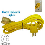 Conntek 24161-108, 9', 13A, 16/3 SJT I-Ring Indoor Extension Cord with Glow Indicator, 5-15P/R
