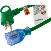 Conntek 24162-072, 6', 13A, 16/3 SJT I-Ring Indoor Extension Cord with Glow Indicator, NEMA 5-15P/R