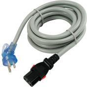 Conntek 27213-7, 10', 13-Amp, 16/3 SJTW Locking Hospital Cord, 5-15P 7.0' Clock Angle to IEC 320 C13