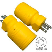 Conntek 30111-YW, 15 to 15-Amp Locking Adapter with NEMA 5-15P/R, Yellow