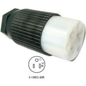 Conntek 60201, 15 to 20-Amp Straight Blade Connector with NEMA 5-15/20R Female End, 2 Pole-3 Wire
