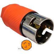 Conntek 60721, 50-Amp California Stardard AC Locking Assembly Plug, 3 Pole- 4 Wire