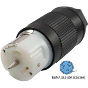 Conntek CS6364, 50-Amp CA-Standard Connector with NEMA CS6364 Female End, 3 Pole- 4 Wire