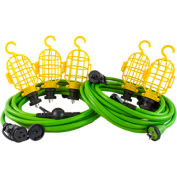 Conntek 50ft Multi-Functional Extension cords/Locking String Light kit, w/ 5 Light Cages