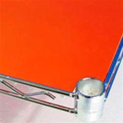 PVC Shelf Liners 12 x 30, Orange (2 Pack)