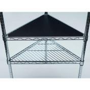 PVC Shelf Liners - Triangle 18 x 18, Black (2 Pack)
