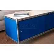 Enclosure Kit - Slide Door 18 x 48 x 13, Light Blue