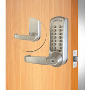 Codelocks ANSI Grade 2 Mechanical Lockset, CL615-BS, EZ Code Change, Code Free/Passage, Silver Gray