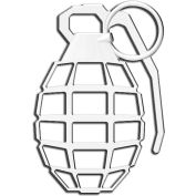 Cruiser Accessories Grenade Automotive Decal, Chrome - 83803