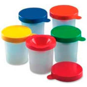 CLI® Plastic Paint Cups with Colored Lid, Assorted Colors, 10/Set