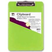 "CLI® Rubber Grip Clipboard, 8-1/2"" x 11"", Neon Green"
