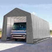 RV and Boat Storage Building 14'W x 16'H x 32'L - Silver/White