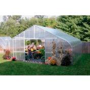 30x12x96 Solar Star Greenhouse w/Solid Polycarbonate, Gas Heater