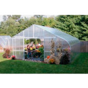 34x12x40 Solar Star Greenhouse w/Poly Ends and Drop-Down Sides, Prop Heater