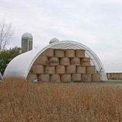 Econoline Storage Building 30'W x 15'H x 90'L White Freestanding