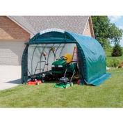 Mini Garage/Storage Shed 10'W x 8'H x 18'L Tan