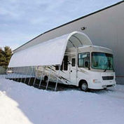 Open Garage 18'W x 16'H x 24'L White