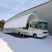 Open Garage 18'W x 16'H x 40'L White