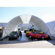 """Freestanding Poly Building 42'W x 17'3""""H x 48'L White 4' Rafter"""