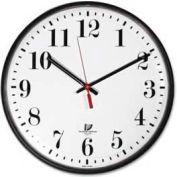 """Chicago Lighthouse 12.75"""" Round Quartz Slimline Clock, Plastic Case, Black"""
