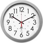 "Chicago Lighthouse 14.5"" Round Contemporary Quartz Clock, Plastic Case, Silver"
