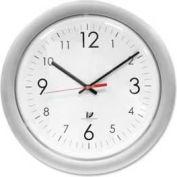 """Chicago Lighthouse 14"""" Round Designer Quartz Clock, Plastic Case, Silver"""