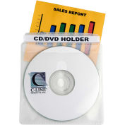 Individual CD/DVD Holders, Polypropylene, Double-Sided, 50/pack