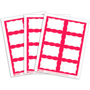 "C-Line® Laser/Inkjet Name Badge, 3-3/8"" x 2-1/3"", Red Border, 200/Box"