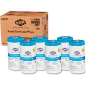 "Clorox® Healthcare® Bleach Germicidal Wipes, 6-3/4"" x 9"", 70/Can, 6 Cans/Case - 35309"