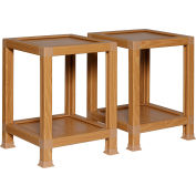 """OneSpace ECO 100% Recycled Paper End Table - 14.5""""L x 14.5""""W x 20""""H - Oak"""