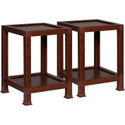 """OneSpace ECO 100% Recycled Paper End Table - 14.5""""L x 14.5""""W x 20""""H - Teak"""