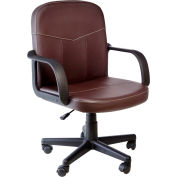 OneSpace Bonded Leather Mid-Back Office Chair - Brown
