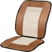 Kool Kooshion Microsuede Full Seat Cushion - Tan/Beige