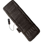Comfort Products 10-Motor Massage Plush Mat With Heat Charcoal Gray